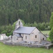 L' église de L'Eglise aux Bois en Corrèze